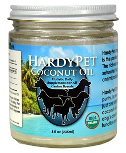 HardyPet Extra Virgin Organic Coconut Oil 8oz