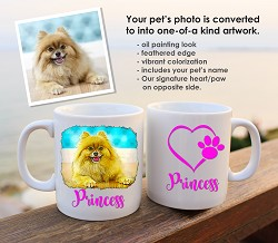 Full Color Custom Coffee Mug with your dog's photo